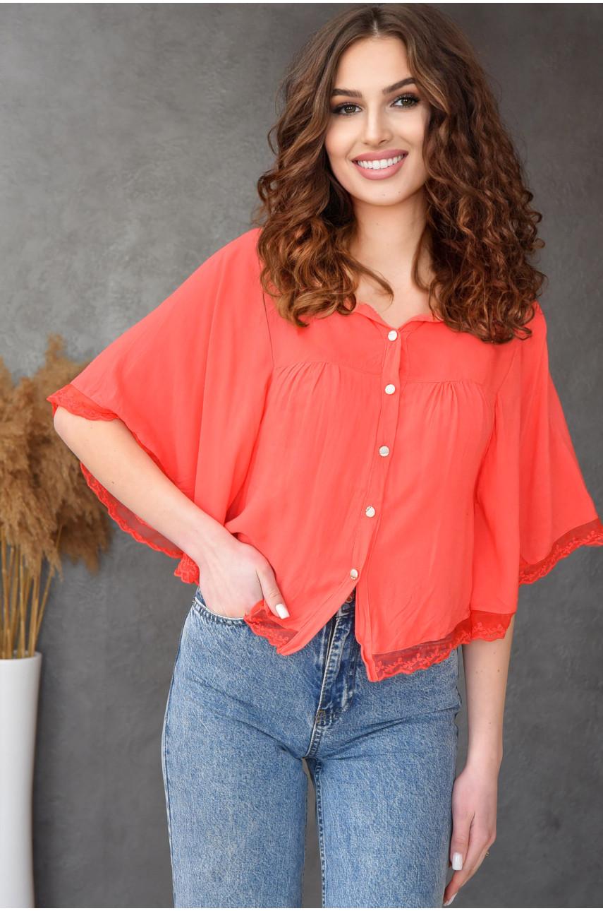 Блуза женская коралловая 8008-6