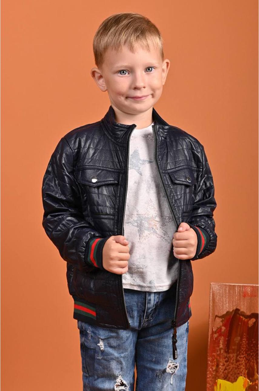 Ветровка детская мальчик темно-синяя 8927-2