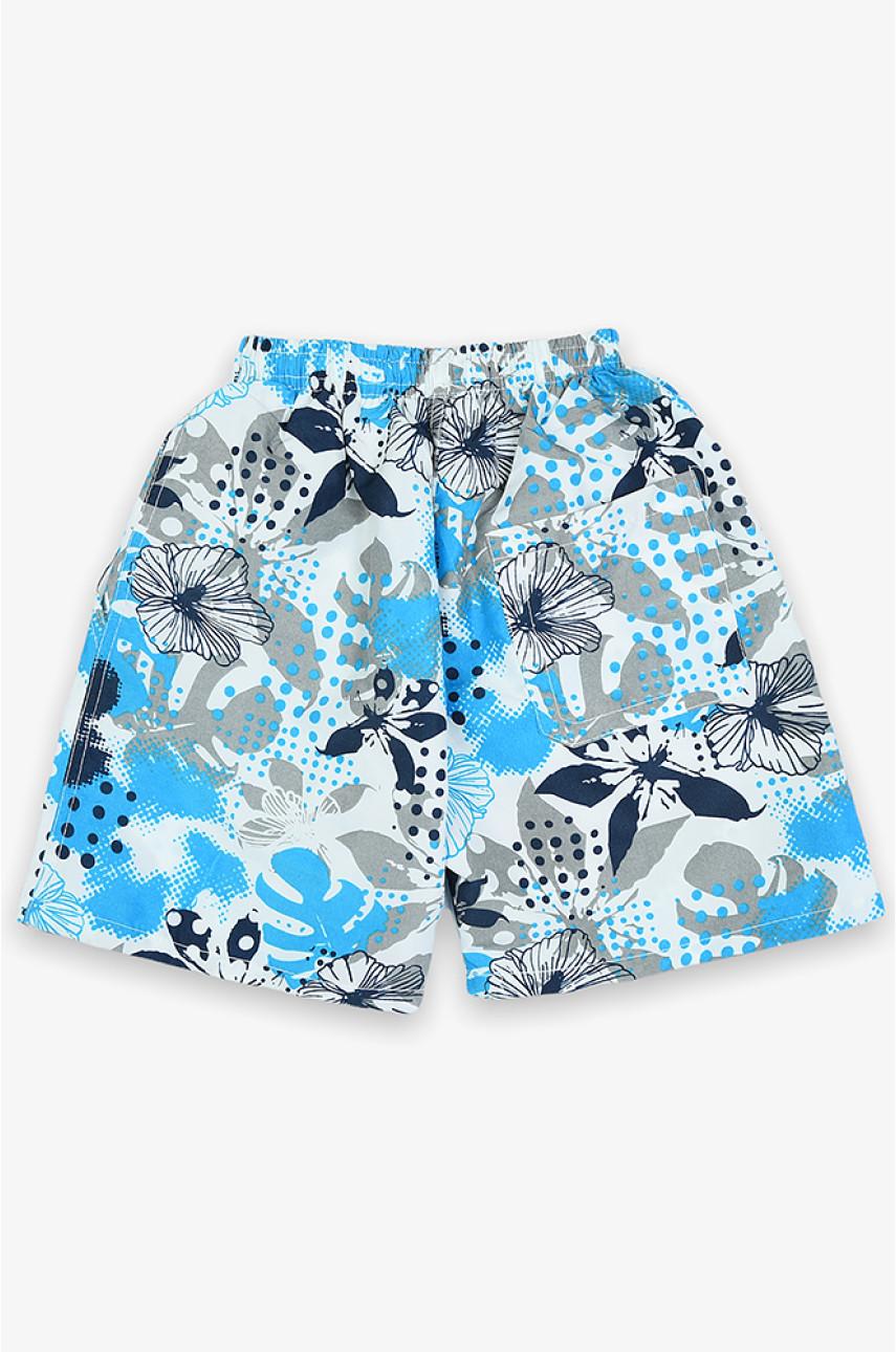 Шорты Гаваи подросток голубые 801-5