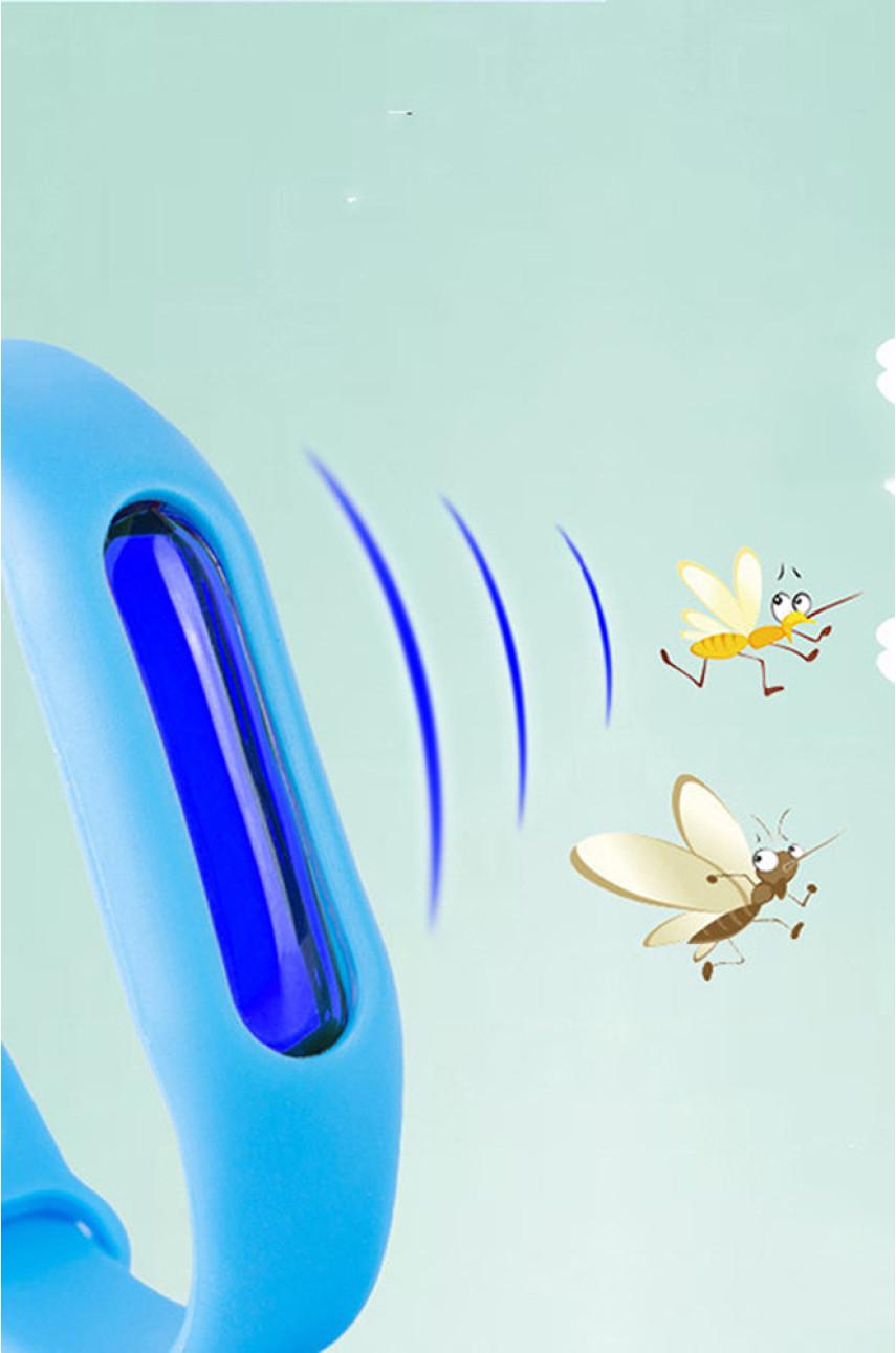 Браслет для защиты от комаров и насекомых оранжевый 885