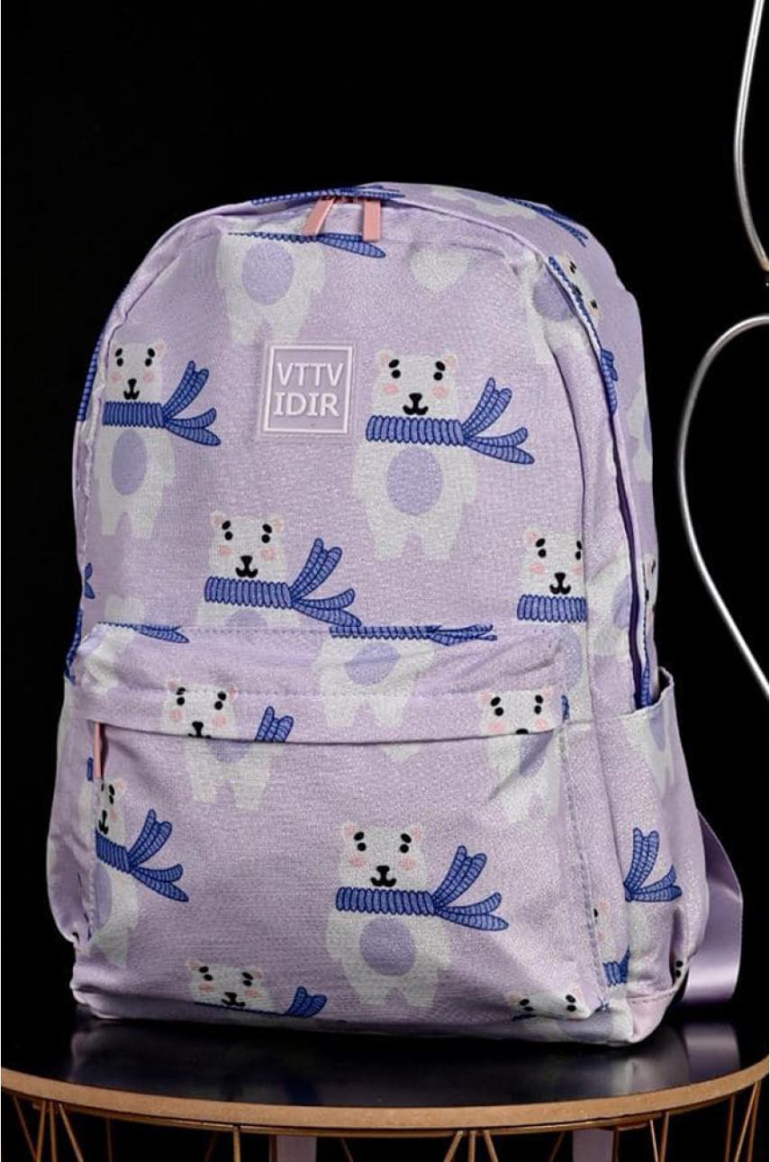 Рюкзак детский сиреневый 7920