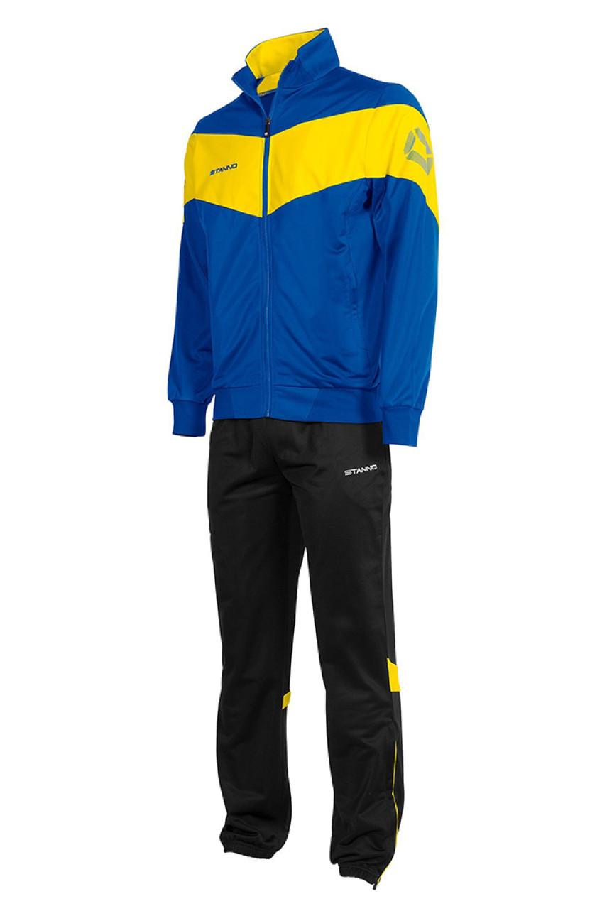 Спортивный костюм мужской синий с желтыми вставками 005