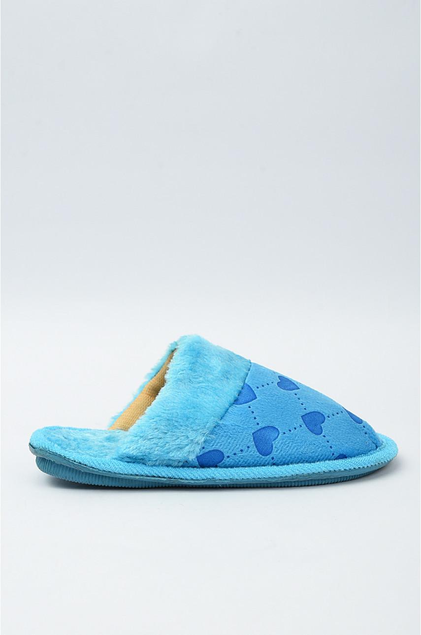 Тапочки домашние детские голубые