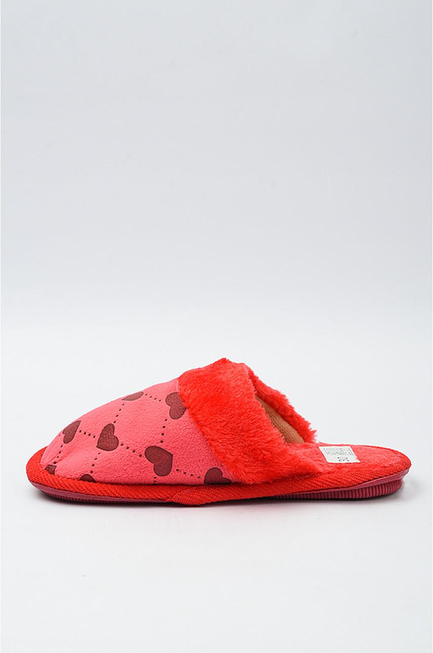 Тапочки домашние детские красные