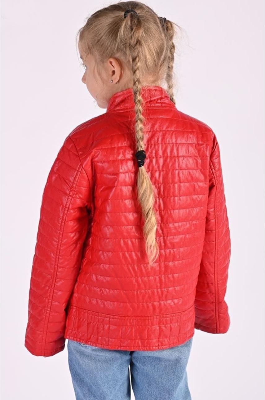 Ветровка красная девочка 8906-1