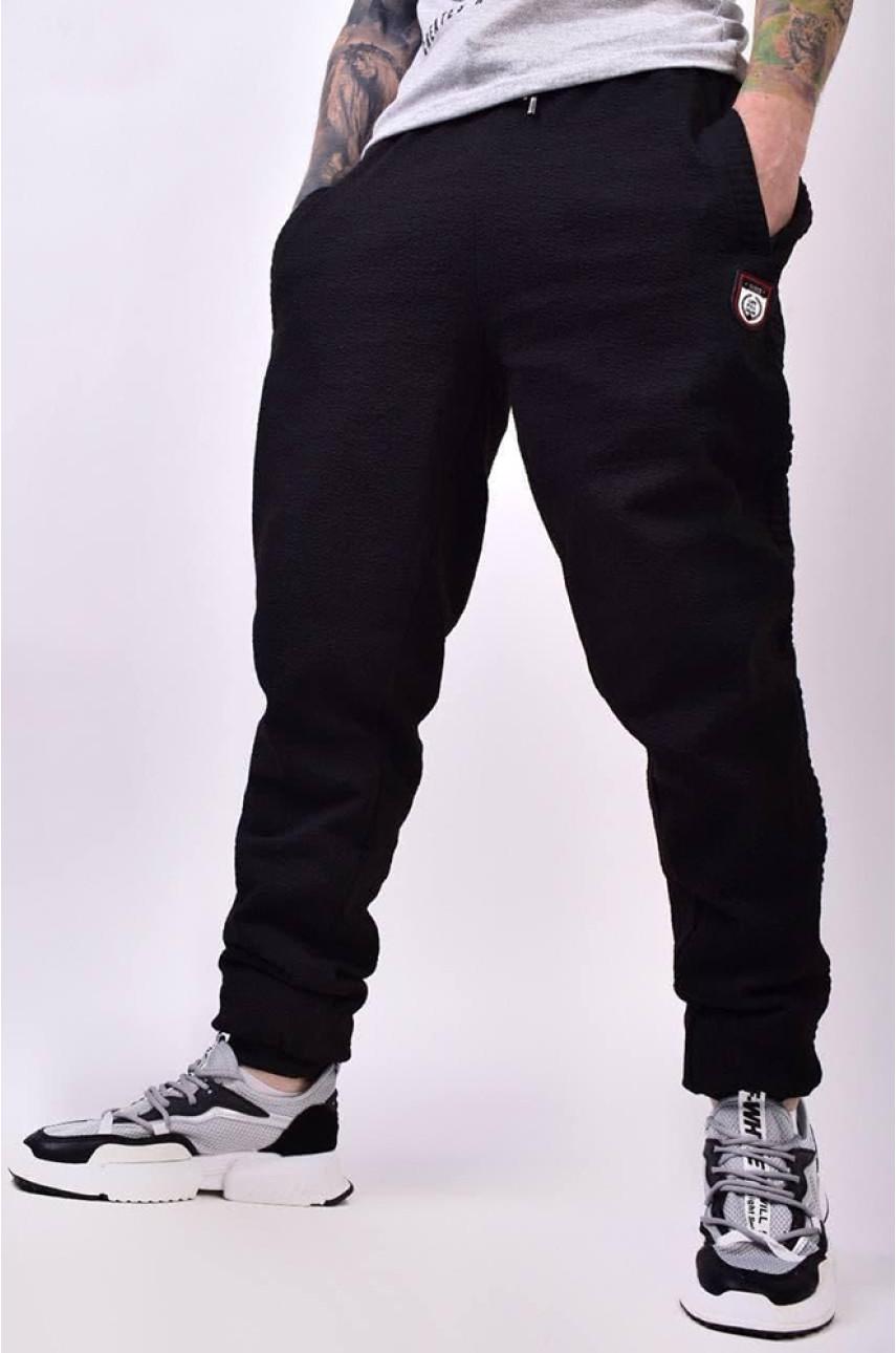 Спортивные штаны мужские черные 510