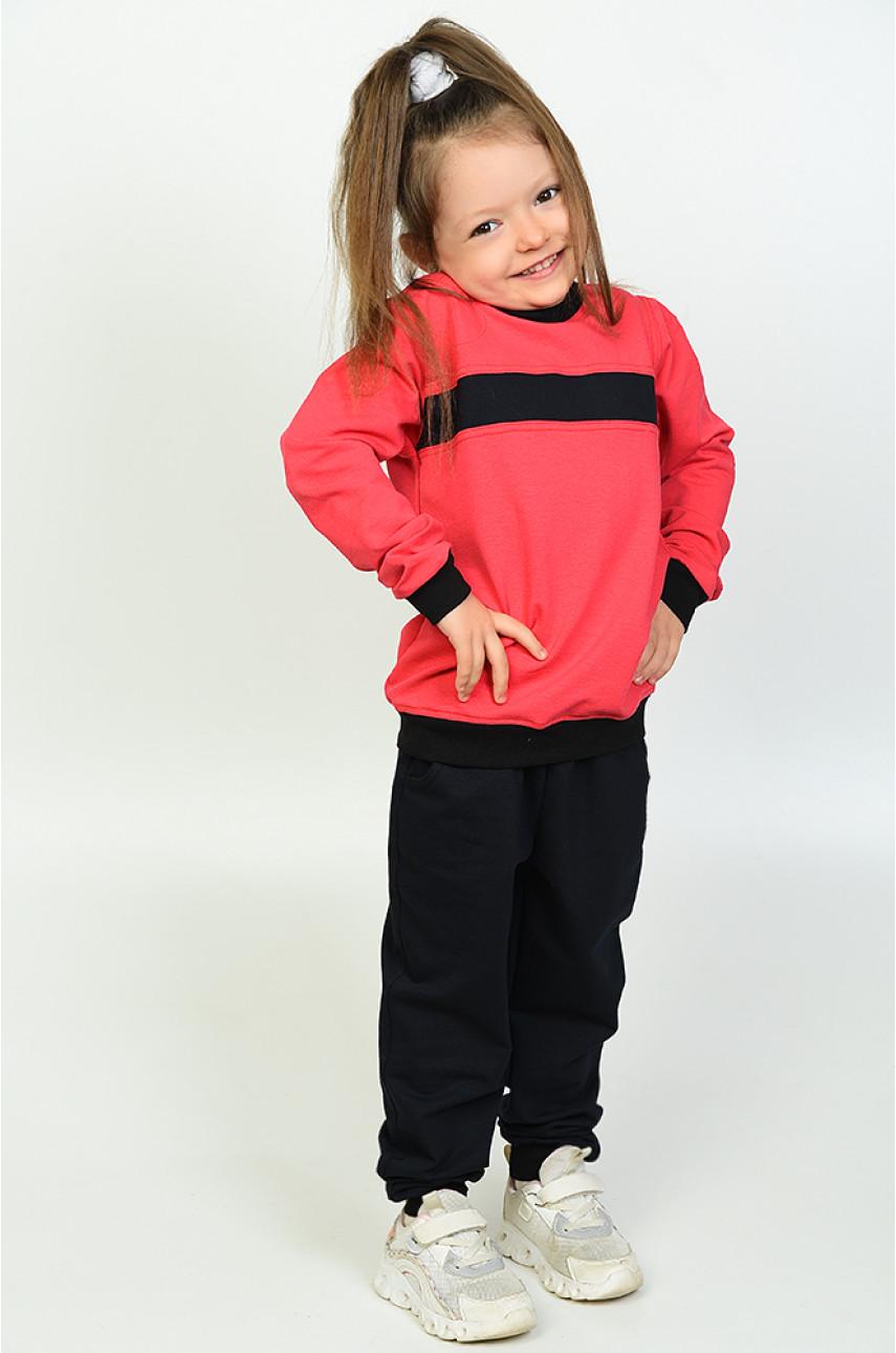 Спортивный костюм детский черно-красный 0530001