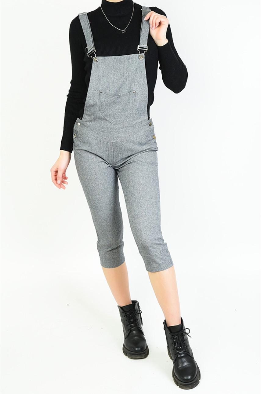 Комбинезон женский серый 7852