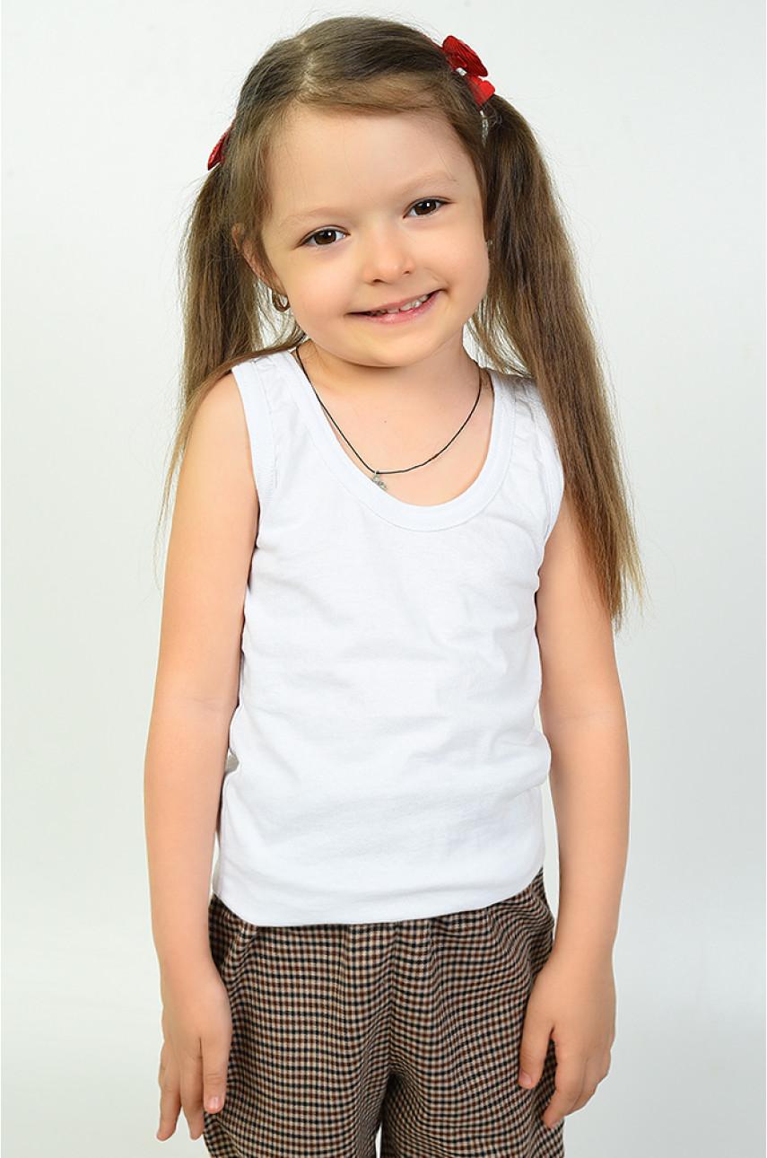 Майка детская белая размер 116-122 138137