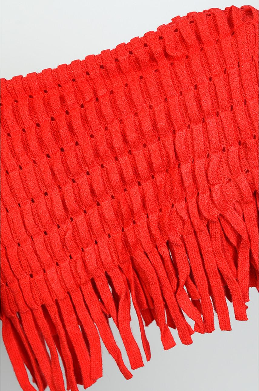 Хомут женский красный размер 36 х 25 9062-8 138647